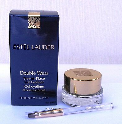Estee Lauder Double Wear Stay In Place Gel Eyeliner in Stay Onyx with Brush BNIB