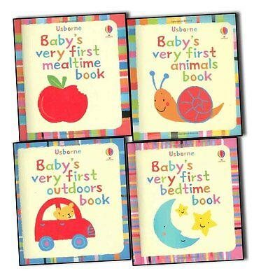 Usborne Baby Very First 4 Books Collection Pack Set-Bedtime Book,Book of Outdoo