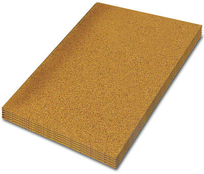 LARGE CORK SHEET, 610 mm x 460 mm - PACK OF 4 SHEETS - CHOOSE YOUR THICKNESS