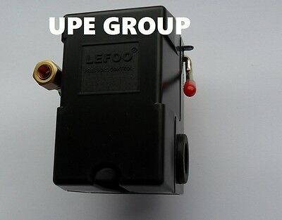 Pressure Switch Control Air Compressor 140-175  Single Port Heavy Duty  26 Amp