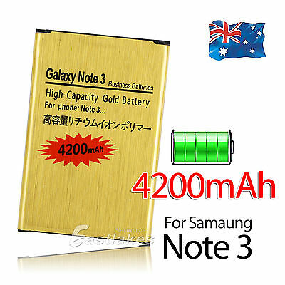 4200mAh Gold Battery Replacement For Samsung Galaxy Note 3 III N9000 N9005