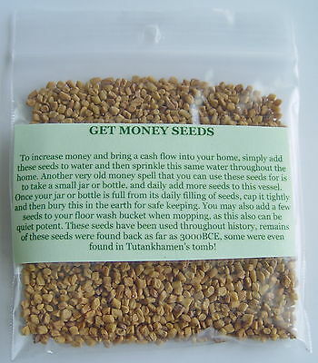 GET MONEY SEEDS 30g  Wicca Witch Pagan Goth Spell