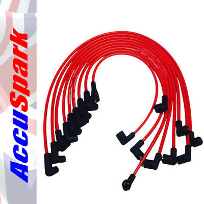 Ford 289 & 302 V8 Engine AccuSpark 8mm RED Carbon Core Performance HT Leads