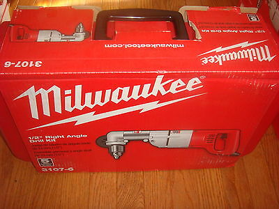 Milwaukee 1/2 in. Heavy Right-Angle Drill Kit with Case 3107-6 New!!!