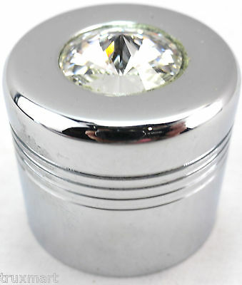 glove box knob cover clear jewel chrome aluminum for Peterbilt Kenworth