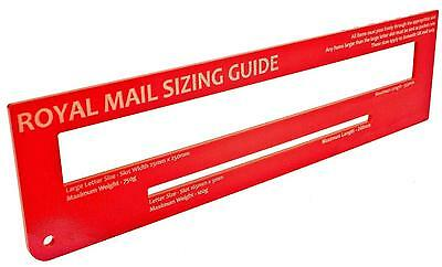 RED - Royal Mail PPI Postal Post Office Template Letter Size Ruler Price Guide