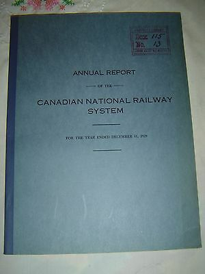 CANADIAN NATIONAL RAILWAY SYSTEM - Annual Report - Dec. 31, 1929