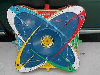 VINTAGE ASTRO LAUNCH TIN TOY SPACE BOARD GAME 1963 BY OHIO ART - FOR PARTS