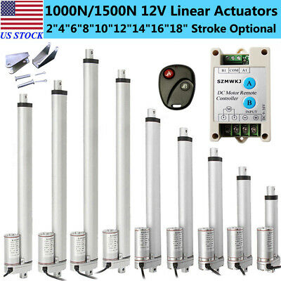 "DC12V 2""-18"" Heavy Duty Linear Actuator Electric Motor for Medical Lift Auto Car"