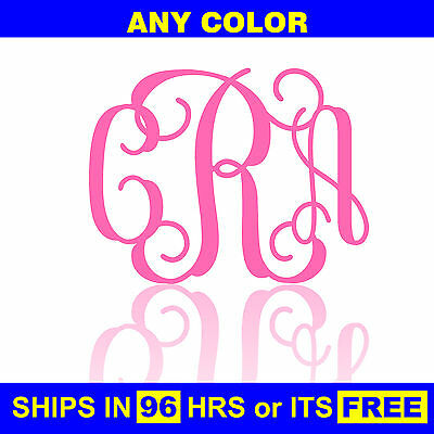 "24""x18"" Painted Monogram Wooden Nursery Baby Shower Initials Wall Door Wood"
