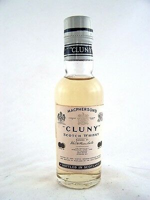 Miniature circa 1966 MACPHERSONS Cluny Scotch Whisky Isle of Wine