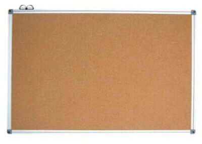 Commercial 600X900Mm Single Side Aluminum Frame Corkboard W/10 Colored Pins