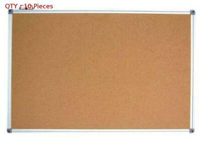 10X Brand New Commercial 600X900Mm Single Side Aluminum Frame Cork Board
