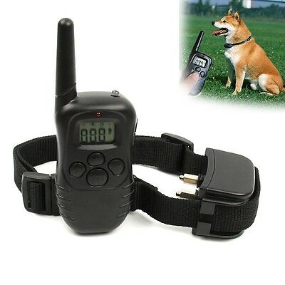 300 Yard 100LV Level Rechargeable LCD Shock Vibra Remote Pet Dog Training Collar
