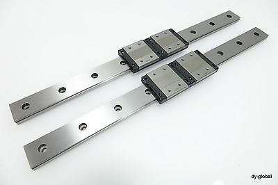 THK LM Guide Used 2SRS12WM+350L Linear Bearing 2Rail 4Block wide profile CNC Rou