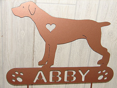 German Shorthaired Pointer Garden Plaque PET MEMORIAL Stake Personalized Dog