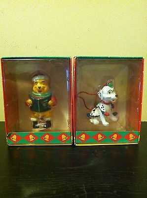 Lot of 2 It's A Small World Holiday 1994 Ornaments Pooh And Dalmation New In Box