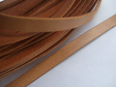 2 Meters 10mm Flat Natural Genuine Real Leather Cord 2mm thickness