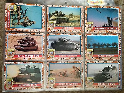 1991 Topps Desert Storm Series 2 Complete 88 card set and 11 Stickers