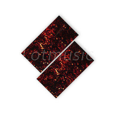New 2pcs Flame Celluloid Guitar Head Veneer 1.5mm Thick Shell