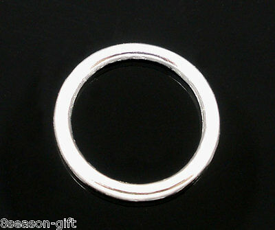 500 Pcs Gift Silver Soldered Closed Jump Rings 4mm Dia 1//8 inch A7H8