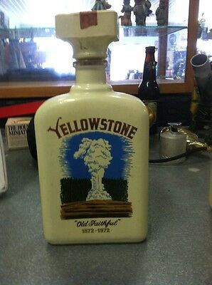 Vintage Yellowstone Park 1972 Whiskey Decanter National Parks Anniversary Bottle