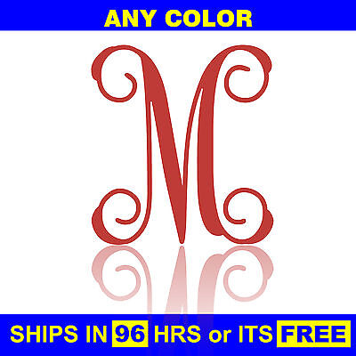 """15"""" Tall Painted Letter Wooden Nursery Baby Wedding Initial Wall Front Door Wood"""