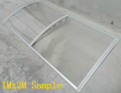 1Mx3M DIY Outdoor Window Awning/Patio DARK/CLEAR Cover and length is various