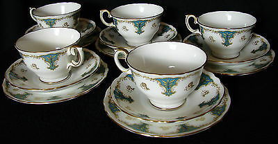 CROWN STAFFORDSHIRE TRIOS CRS80 (china tea cup saucer plate coffee England)