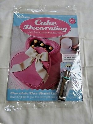 DeAGOSTINI CAKE DECORATING MAGAZINE HEART CRIMPER   No 77  NEW