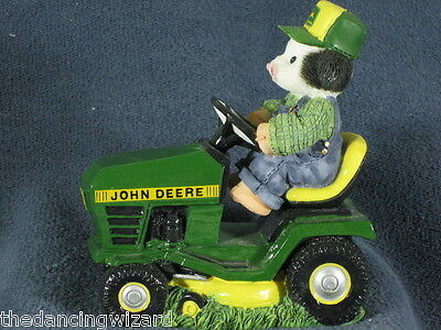 Marys Moo Moos John Deere Tractor Lawnmower Cow Mary Rhyner-Nadig 1998