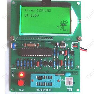 12864 lcd transistor tester/ ESR Meter /LCR table/frequency /square wave genera