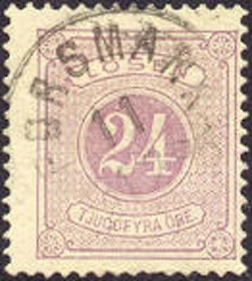 Sweden J19 Used 24o Gray Lilac Postage Due from 1882