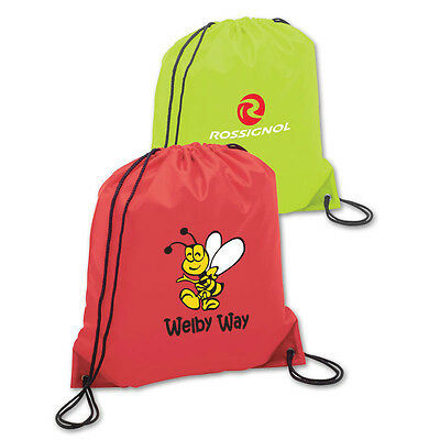 CLASSIC NYLON DRAWSTRING TOTES - 100 quantity - Custom Printed with Your Logo