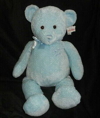 Gund Peyton Teddy Bear Plush Baby Christening Gift Soft Toy New Choose A Colour Gifts