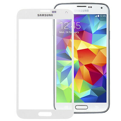 Samsung Galaxy S5 i9600 SM-G900F Display Glas Digitizer Touchscreen Weiss White