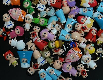 """lot of 20 Dolls Mini Collected baby Barbie figure by random 0.8""""- 1"""" high #af3"""