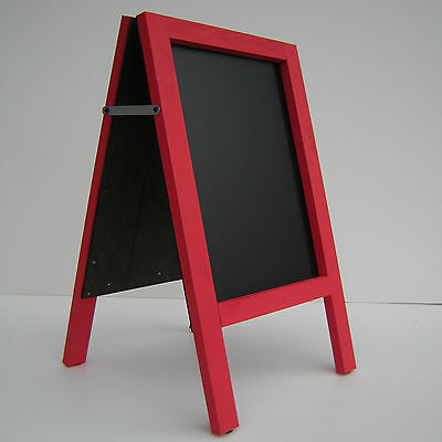 CHALKBOARD-PAVEMENT BOARD-SANDWICH-DISPLAY-BLACKBOARD - 80cm x 40cm RED 5KGS