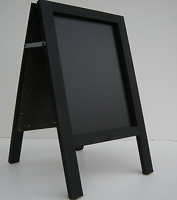 CHALKBOARD-PAVEMENT BOARD-SANDWICH-DISPLAY-BLACKBOARD - 80cm x 40cm  BLACK 5KGS