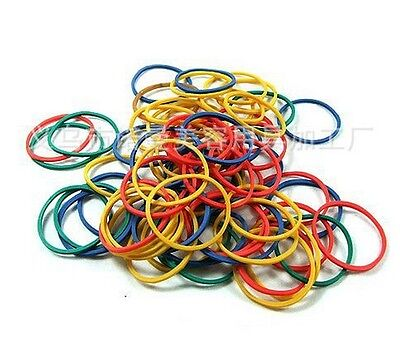 100Pcs Multicolor Rubber Elastic Bands O Rings for Tattoo Machine Gun Tool Kit a