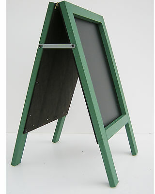 CHALKBOARD-PAVEMENT BOARD-SANDWICH-DISPLAY-BLACKBOARD - 80cm x 40cm GREEN 5KGS