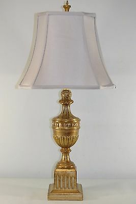 VINTAGE FREDERICK COOPER TABLE LAMP URN SHADE DISTRESSED GOLD FINISH