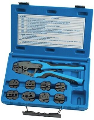 S & G Tool Aid 18980 Master Ratcheting Terminal Crimper Set