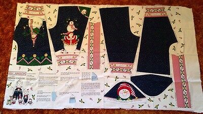 1 Panel Daisy Kingdom S-L Snowman Toddler Overalls Christmas Holidah Candy