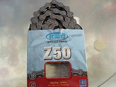 "KMC Z50 18-21 SPEED 1/2"" x 3/32"" GREY/BROWN BICYCLE CHAIN"