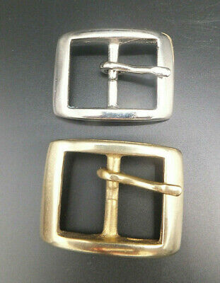 "CAST SOLID BRASS or NICKEL [ 1"" 25 mm ] RECTANGLE BELT BUCKLE LEATHERCRAFT 113"
