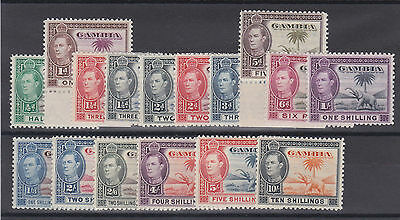 Gambia 1938 Complete Set Sg 150-161 Mint.