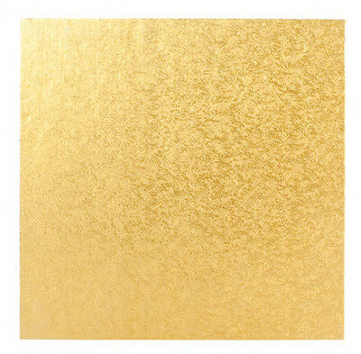 "8"" Inch Square OR Round Gold OR Silver Cake Board Card 3mm DOUBLE THICK"