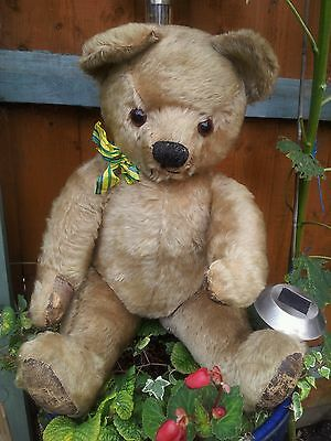 Antique chad valley teddy bear english jointed mohair ~ charlie