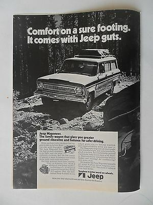 1972 Print Ad Jeep Wagoneer Car Automobile ~ Comfort on a Sure Footing